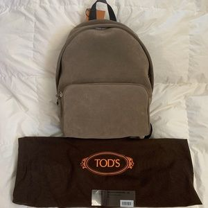 Tods Green Suede Backpack
